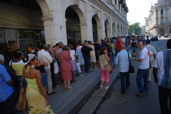 Line for a movie at this years Havana Film Festival. Photo: Caridad