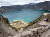 20- At 3,850 meters at the lagoon of the Quilotoa volcano.