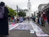 35- In front of the Carondelet Palace in Quito the relatives of the dissappeared demand justice.