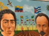 0018 Paintings of Marti, Bolivar and Chavez donated to the Simon Bolivar Museum