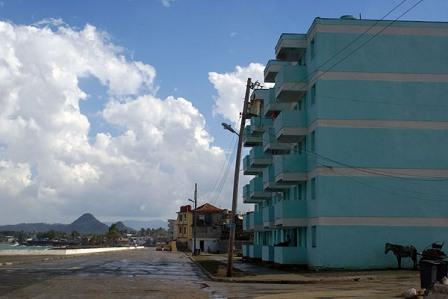 The coastal streets of Baracoa received considerable damage but repairs are bring new optimism.