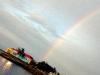 Playa Tarara con arcoiris.  Photo: Angel Yu