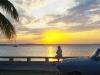 Sunset with 50s car.  Photo: Linda Williams