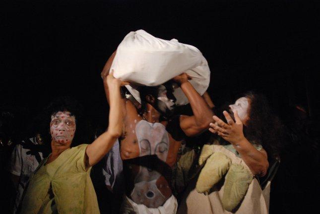 Performance by Manuel Mendive at Havana Biennial