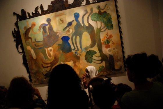 Audience at Performance by Manuel Mendive at Havana Biennial