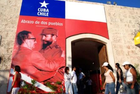 The relationship between Chile and Cuba was particularly intense during the government of Salvador Allende (1970-1973). Photo taken at Cuba International Book Fair 2009.