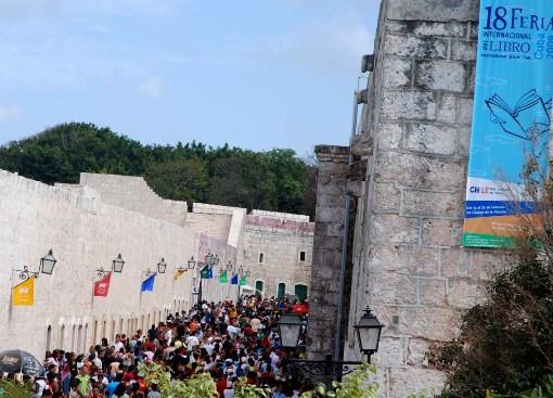This year's Cuba International Book Fair at the San Carlos de la Cabaña Fortress
