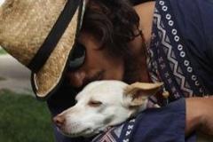 David and his dog Lila