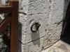 033 Details of the door that follows the drawbridge.
