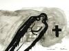 La muerte material, 70 x 50 cm, acrílico sobre cartulina, 2003