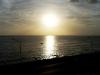 Sunset on the Havana malecón seawall.