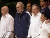 Machado Ventura, Fidel and Raul Castro and Nemesia Rodríguez, victim of the Bay of Pigs invasion.  Photo: Jorge Luis Baños
