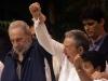 Fidel and Raul Castro.  Photo: Jorge Luis Baños