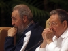 Fidel and Raul Castro at the closing session of the 6th Communist Party Congress.  Photo: Jorge Luis Baños