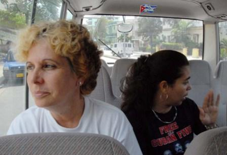 Olga Salanueva and Adriana Perez wives of Cuban 5 Rene Gonzalez and Gerardo Hernandez. They have not seen their husbands in over 10 years. They are repeatedly denied visa for a host of reasons.