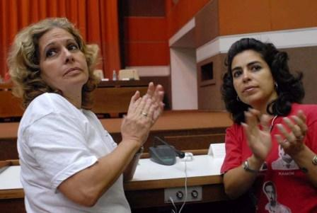 Olga Salanueva and Adriana Perez wives of Cuban 5 Rene Gonzalez and Gerardo Hernandez. They have not seen their husbands in over 10 years and are repeatedly denied visas for revolving reasons.