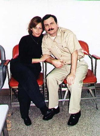 Fernando Gonzalez with his wife at Oxford Federal Prison.