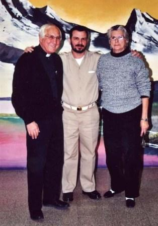 Fernando Gonzales with his mother Magali Lort and retired Roman Catholic auxiliary bishop of the Archdiocese of Detroit. Oxford Federal Prison Wisconsin