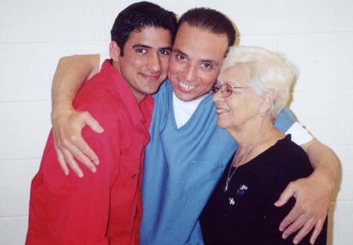 Antonio Guerrero and his son Tonito and his mother Mirta, Florence Federal Penitentiary Colorado