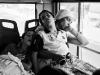 Napping on the bus.  Photo: Sergio Leyva