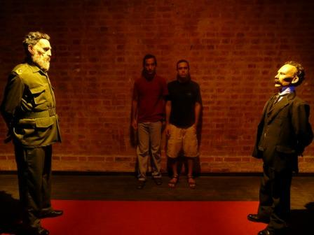 """Artist Manuel Castro Inda with Fidel from """"Encounter"""""""