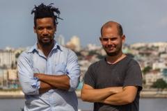 Actor Reynier Morales and director Adonis Milan