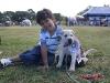 Mario Alejandro Sanchez Gregores with his puppy Reinita