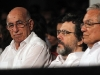 First Vice President Machado Ventura and Culture Minister Abel Prieto at the international concert to celebrate the 85th birthday of Fidel Castro.  Photo: Jorge Luis Baños-IPS