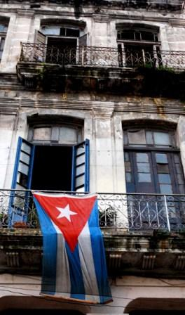 The Cuban flag is ever present, but the Constitution is little known.  Photo: Caridad