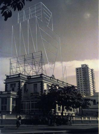 especially recalled Carlos Garaicoa's photos showing skeletal billboards. Photo: Caridad