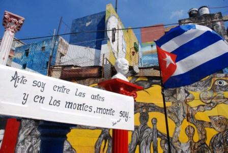 Havanas Callejon de Hamel Afro-Cuban Art Poject celebrates its 19th anniversary.