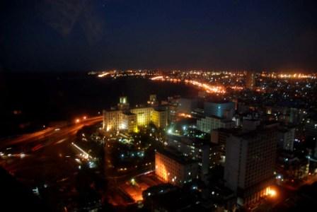 Havana by night.  Photo: Caridad