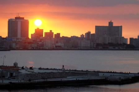 Cuban-Americans are now able to see the sunset over Havana once a year instead of every three years. Photo: Caridad