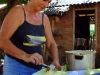 After obtaining the corn dough, it's wrapped in its own leaf and its ends are tied to give the hayaca its shape.  Shown here are quite a few…