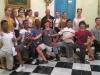 Estudiantes de la compania de Acosta Danza ,que resibieron el taller.