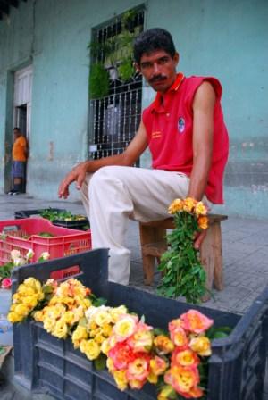 Flower vendor in Holguin, Cuba.  Photo: Caridad