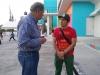 Father Pantoja and poet Balam Rodrigo at the Immigration Center, Saltillo, Mexico.