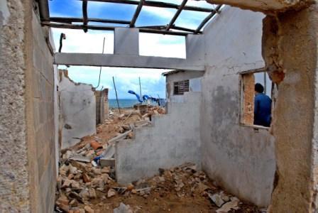 Hurricane Ike plowed across Cuba, photo by Caridad