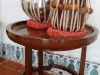 Musical instruments from India at Havana's Asia Museum.