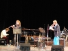 Andrea Brachfeld, on flute, with Bobby Carcasses, right, at Jazz Plaza 2010.