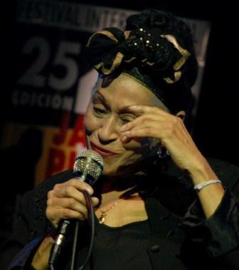 Cubas Omara Portuondo, a recent Grammy winner.  Photo: Caridad