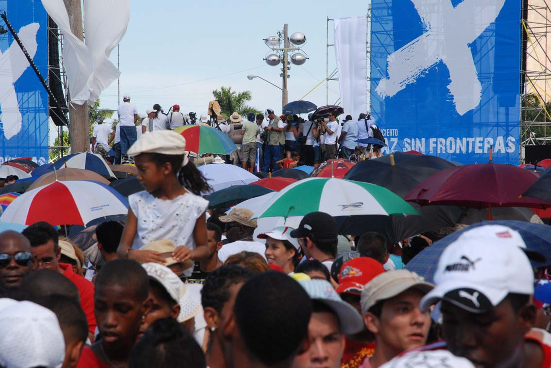 Peace without Borders Concert, Havana, Sept. 20, 2009.  Photo: Caridad