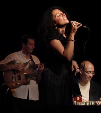 Laure Donnat singing at the Hubert De Blanck Theater in Havana