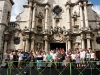 Leonid Agustin and Maraca concert in front of the Havana Cathedral