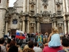 Omara Portuondo singing in front of the Havana Cathedral