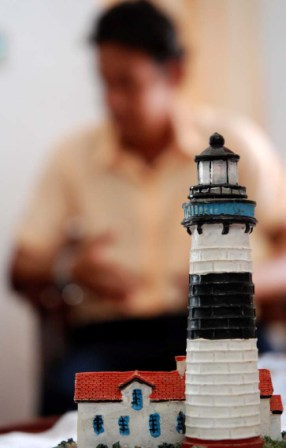 Scale model of the Punta de Maya Lighthouse