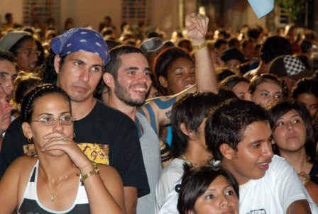 Manu Chao concert in Havana.  Photo: Caridad