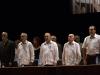 0001 Presidencia del acto de graduación del Instituto de Ciencias Médicas de La Habana, con la presencia del vicepresidente cubano Doctor José Ramón Machado Ventura (segundo de derecha a izquierda) y el ministro de Salud Pública Doctor Roberto Morales Ojeda (tercero).