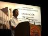 0005 El graduado ecuatoriano Ares Fernando Castro Mejías leyó el agradecimiento de los egresados extranjeros.