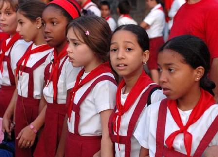 Cuban children.  Photo: Bill Hackwell